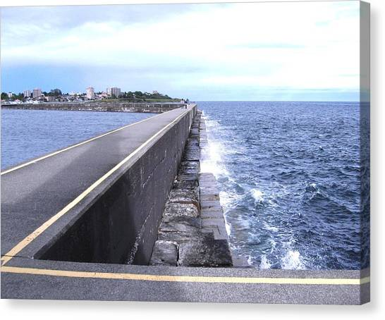 Ogden Point Breakwater Canvas Print