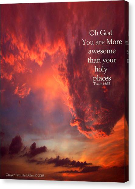 Oh God Canvas Print