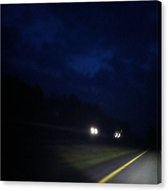Virginia Canvas Print - Oh Hey #virginia. #i95north #cloudy by Brittany Hoffman