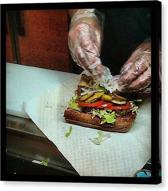 Sandwich Canvas Print - Oh Yeah Baby U Do It My Way . Hahaha !! by Leanna Chong