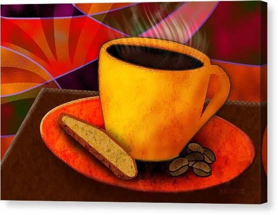 Ohhh.. Coffee Canvas Print by Melisa Meyers
