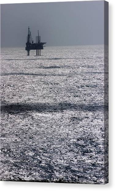 Oil Platform Canvas Print by Arno Massee