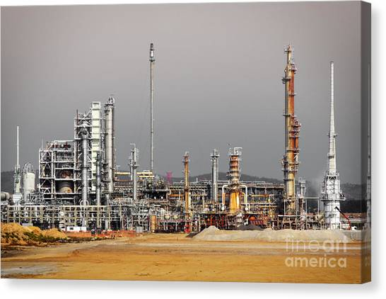Chemicals Canvas Print - Oil Refinery by Carlos Caetano
