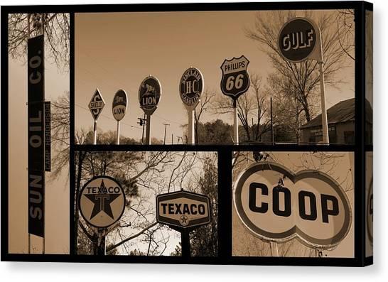 Oil Sign Retirement Canvas Print