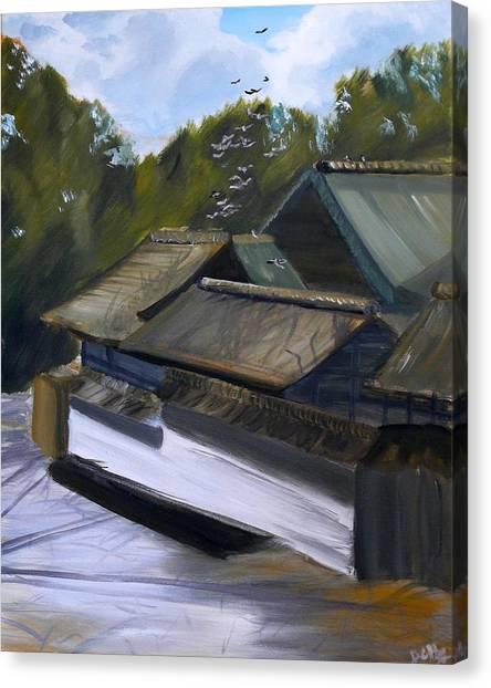 Okazaki Castle Canvas Print by Janice Harvey