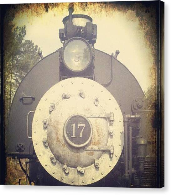 Locomotive Canvas Print - Ol' Rusty #17 by Dan Putt