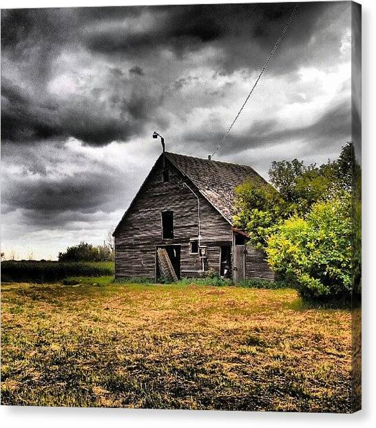 Saskatchewan Canvas Print - #old #abandoned Property Near #melville by Michael Squier