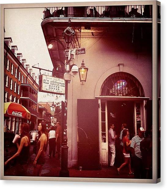 Hurricanes Canvas Print - Old Absinthe House Nola by Cheryl Matochik