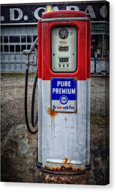 Old And Rustu Pump 2  Canvas Print