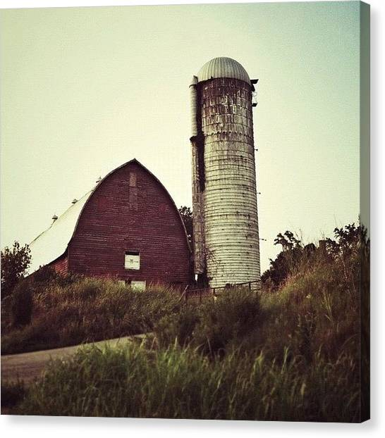 Virginia Canvas Print - #old #barn Still Standing After All by Rob Beasley