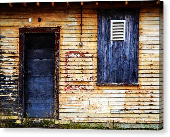 Old Blue Doors Canvas Print
