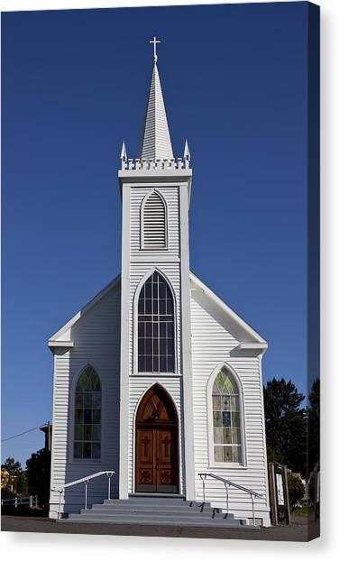 Bodega Canvas Print - Old Bodega Church by Garry Gay