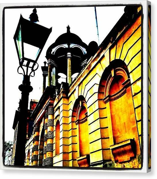 Classical Canvas Print - #old #building #facade #architecture by K H   U   R   A   M