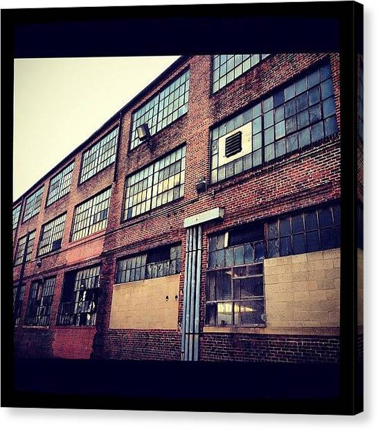 Warehouses Canvas Print - Old Building In Baltimore by Aisha Mahy