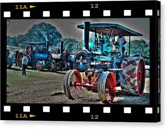 Old Case Tractor Canvas Print