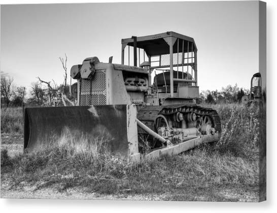 Bulldozers Canvas Print - Old Cat I by Ricky Barnard