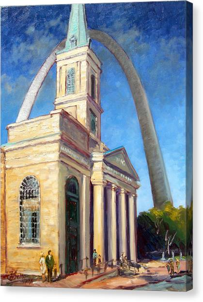 Old Cathedral Church In St.louis Canvas Print