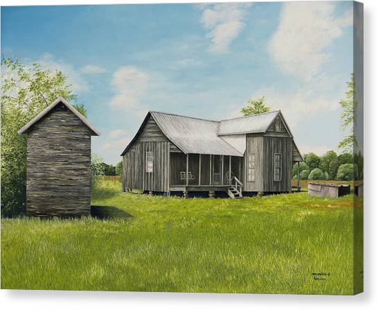 Old Clark Home Canvas Print