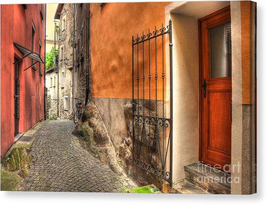 Old Colorful Rustic Alley Canvas Print