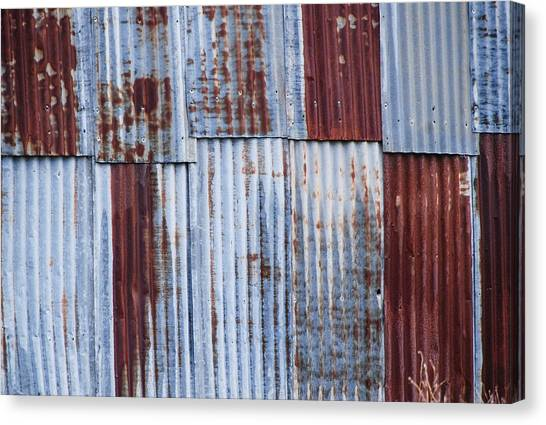 Old Corrugated Iron Canvas Print