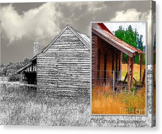 Old Cottage Diptych 2 Canvas Print