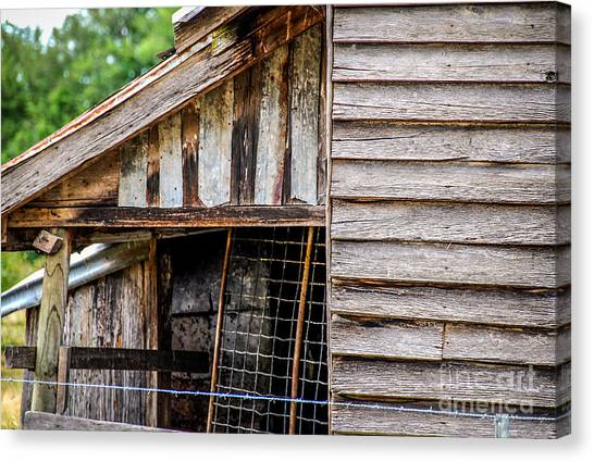 Old Cottage Wall 1 Canvas Print