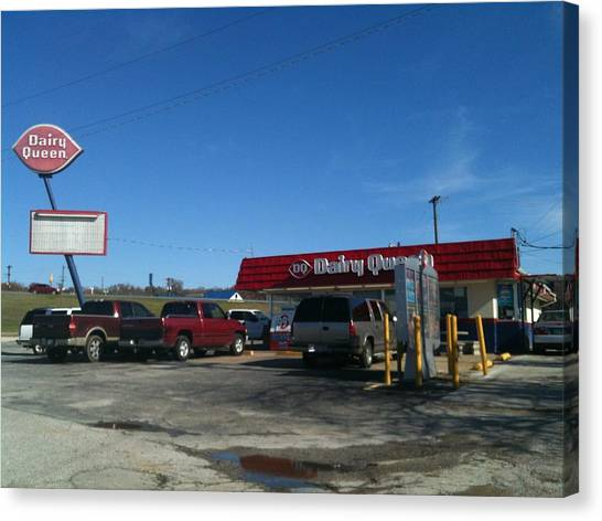 Old Dairy Queen In Azle Texas Canvas Print by Shawn Hughes