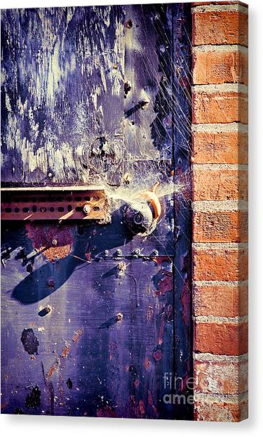 Warehouses Canvas Print - Old Door by HD Connelly