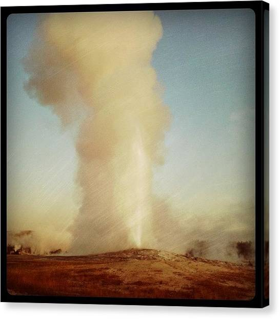 Wyoming Canvas Print - Old Faithful by Christopher Campbell