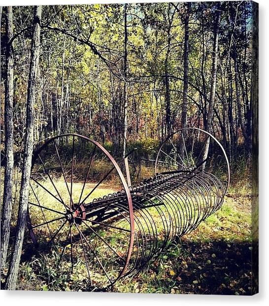 Manitoba Canvas Print - Old Farm Equipment #farm #farmequipment by Lucy Siciliano
