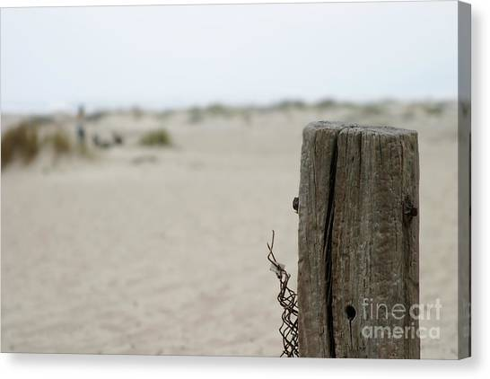 Old Fence Pole Canvas Print
