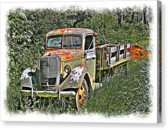 Old Ford Flatbed Canvas Print