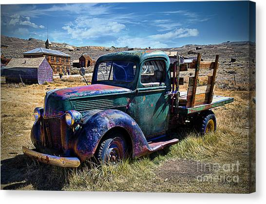 Old Ford V8 Truck Canvas Print
