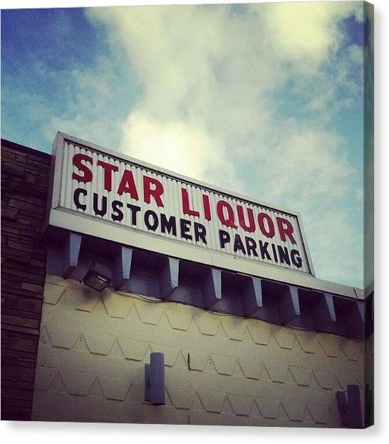 Liquor Canvas Print - Old Friend #instagram #liquor #sign by Haley B.c.u.