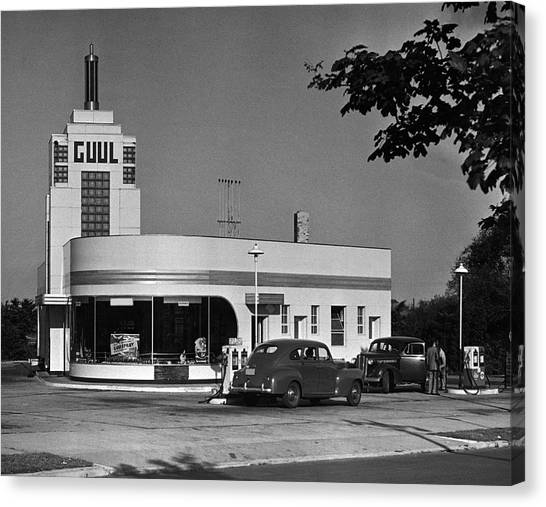 Old Gasoline Station Canvas Print by George Marks