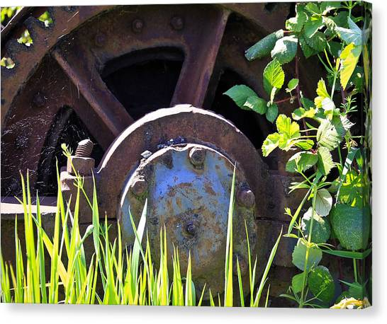 Caterpillers Canvas Print - Old Gears by Steve McKinzie