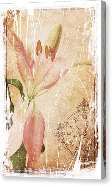 Old Greating Card Canvas Print by Rozalia Toth