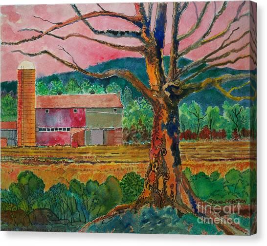 Old Herschel Farm Canvas Print by Donald McGibbon