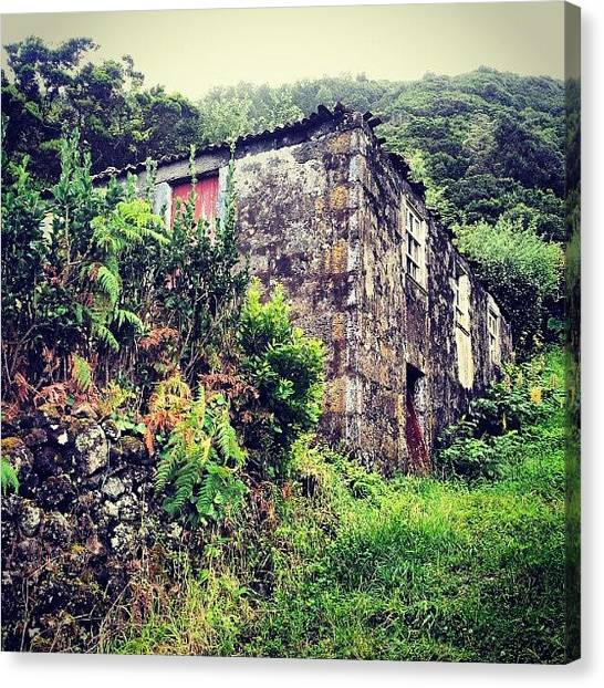 Soccer Leagues Canvas Print - Old House. #azoresislands #azores by Jorge Silveira Sousa