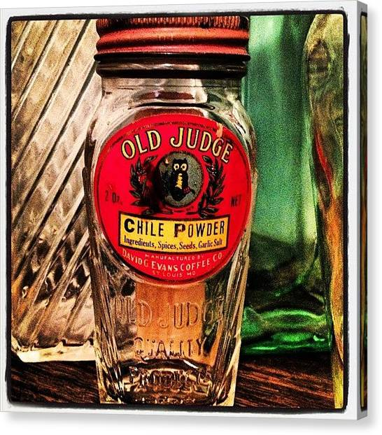 Owls Canvas Print - Old Judge Chile Powder by Brooke Good