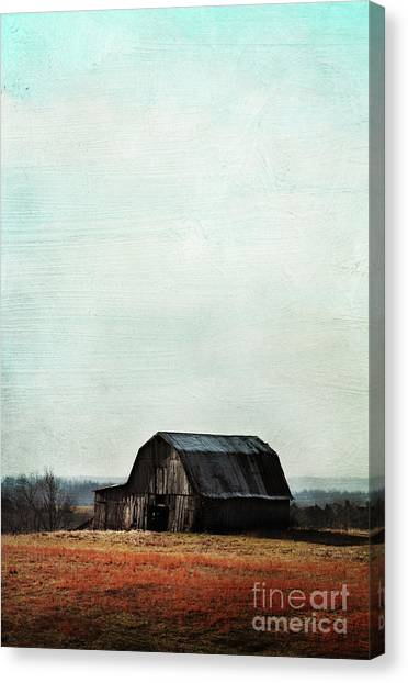 Old Kentucky Tobacco Barn Canvas Print