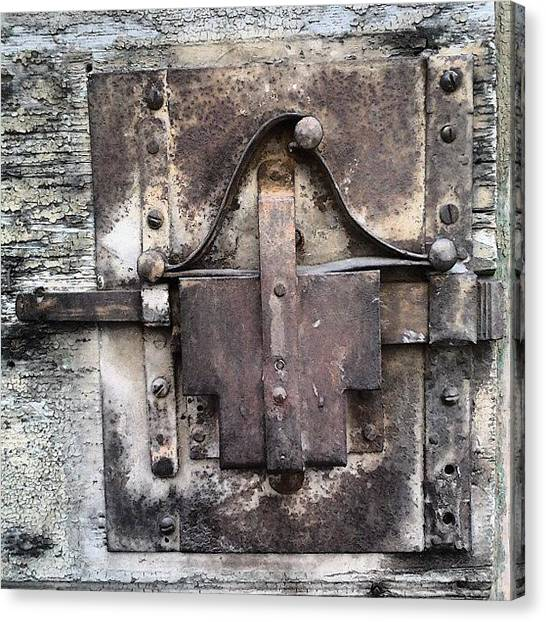 Metal Canvas Print - Old Lock by Nic Squirrell