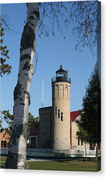 Old Mackinac Point Lighthouse Canvas Print by Brady D Hebert
