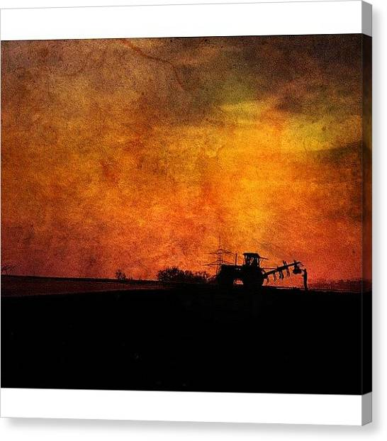 Farmers Canvas Print - Old Man Working Hard by Melanie Stork