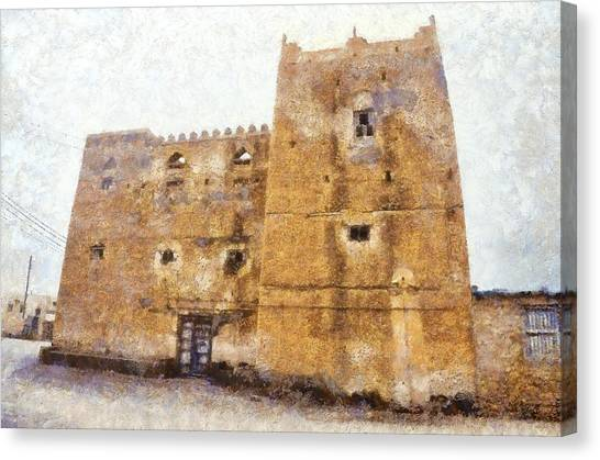 Old Mansion In Mirbat Canvas Print