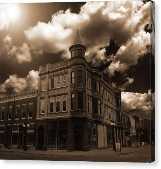 Old Menominee Corner Store Building Canvas Print