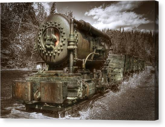 Old Mine Train Banff Canvas Print