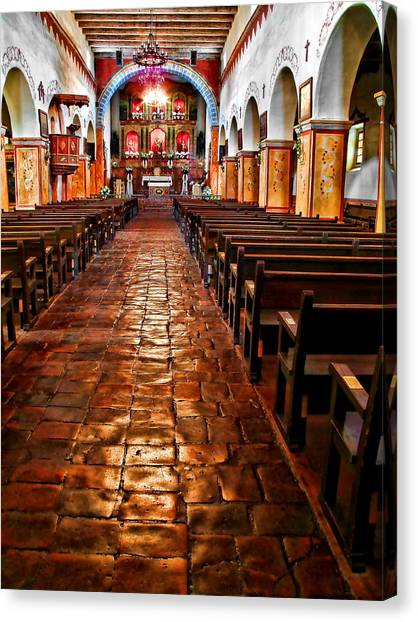 Old Mission Church Canvas Print