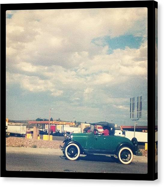 Saws Canvas Print - #old #oldie #truck #saw #highway by Andres Correa