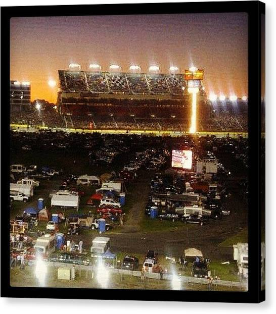 Racing Canvas Print - #old Photo , #charlottemotorspeedway by Lori Lynn Gager